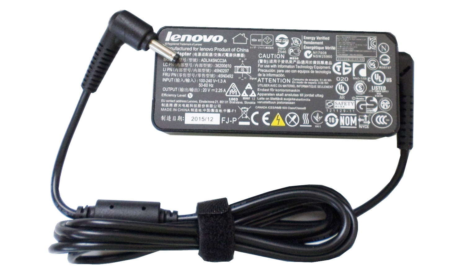 45W Lenovo IdeaPad 110-15ISK 80UD005NTA Power Supply Adapter Charger